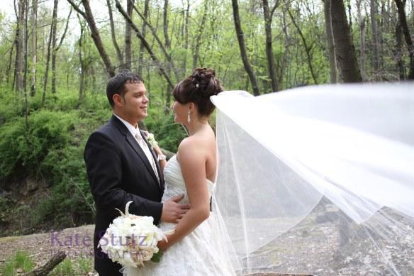 Buttermilk Falls Wedding portrait, Pittsburgh outside wedding portrait